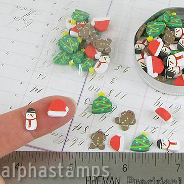 Christmas Cookies Large Polymer Clay Slice Mix