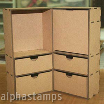 Chipboard Steamer Trunk - Large Size