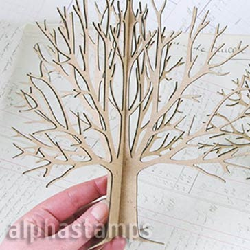 3D Chipboard Tree - 8 Inch