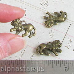 Antique Bronze Lion Charm*