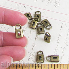 Tiny Bronze Pad Locks