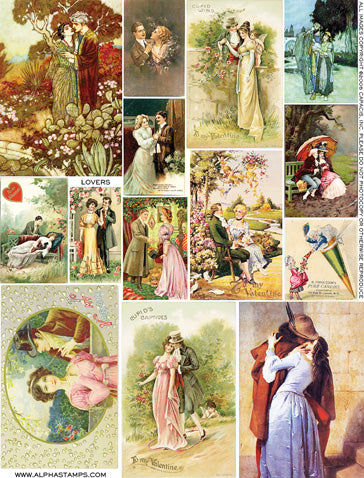 Lovers Collage Sheet