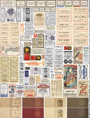 Tiny Magic Books & Potion Labels Collage Sheet