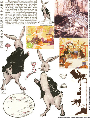 The Mad March Hare Collage Sheet