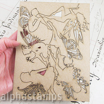 Chipboard Fairies Set - Medium
