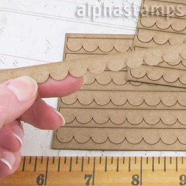 Chipboard Scalloped Shingles - Half Scale