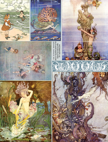 Mermaids #2 Collage Sheet