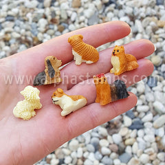 Assorted Mini Dogs - 3/4 Inch Tall*