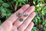 Antique Brass Mini Fleur de Lys Handle
