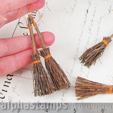 Miniature Rustic Brooms