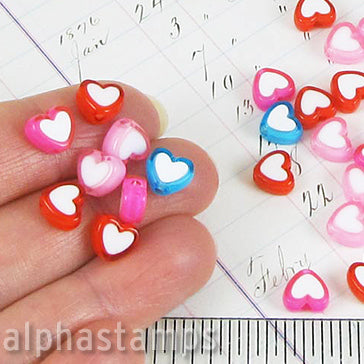 2-Tone Heart Bead Mix