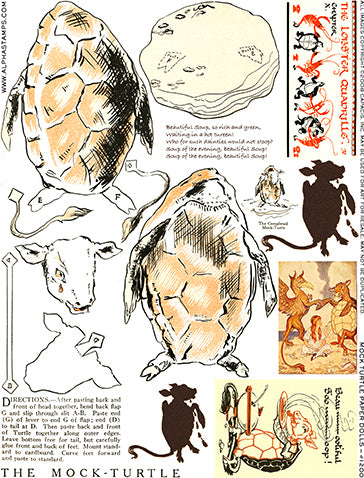 The Mock Turtle Collage Sheet
