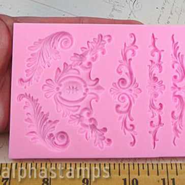 Silicone Mold - Architectural Flourishes