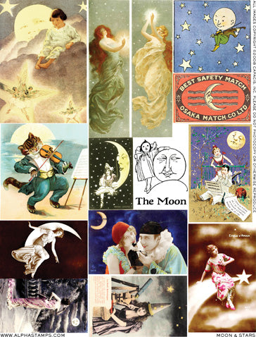 Moon & Stars Collage Sheet