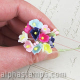 Small Felt Flowers - Multicolor*