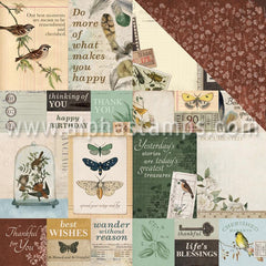 Anthology Scrapbook Paper - Antiquity Note Cards