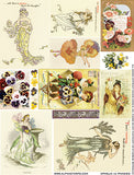 Ophelia #3 (Pansies) Collage Sheet