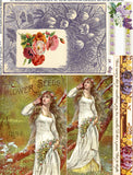 Ophelia's Flowers Collage Sheet