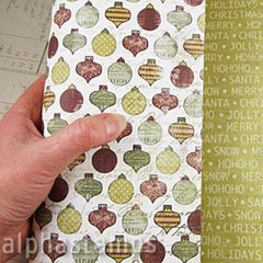 Christmas Day Ornaments Scrapbook Paper*