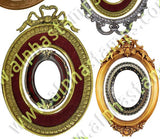 Oval Cameo & Mirror Frames Collage Sheet
