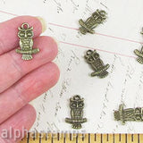 Antique Bronze Owl Charms