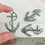 Large Patina Anchor Charm