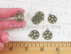 Bronze Pentagram Charms