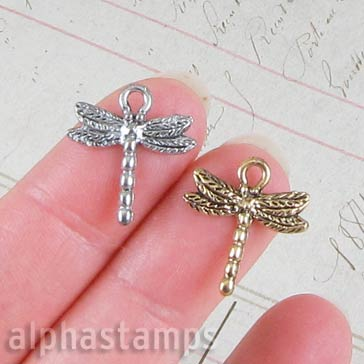 Pewter Dragonfly Charms