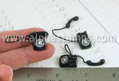 Mini Black Rotary Phone
