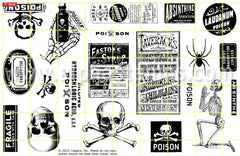 Poison Rubber Stamp Set