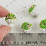 Set of 2 Miniature Planters w Foliage