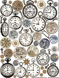 Pocket Watches Collage Sheet