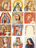 Prayer Card Madonnas Collage Sheet