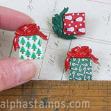 Under The Tree Christmas Present Buttons