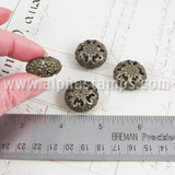 Bronze Puffy Filigree Beads*