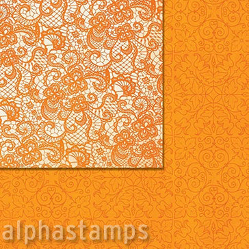Double Dot Lace Pumpkin Scrapbook Paper