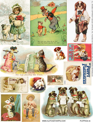 Puppies #1 Collage Sheet