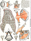 The Queen of Hearts Paper Dolls Collage Sheet