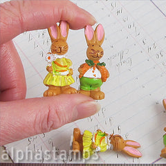 Vintage German Set of Bunnies in Clothes