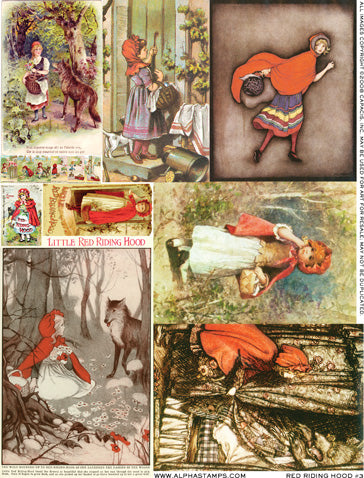 Red Riding Hood #3 Collage Sheet