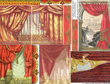 Red Slide Mailer Curtains Collage Sheet