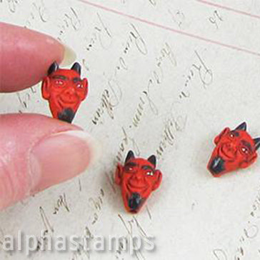 Ceramic Red Devil Bead