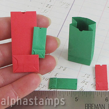 Mini Red & Green Paper Bags