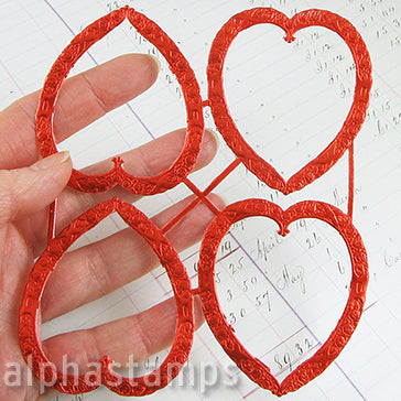 Red Dresden Heart Frames