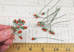 Mini Rose Buds - Red