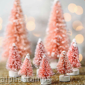 Retro Bottle Brush Tree Set - Pink