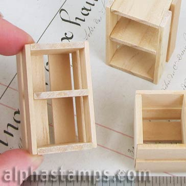 Tall Wooden Fruit Crate Alpha Stamps