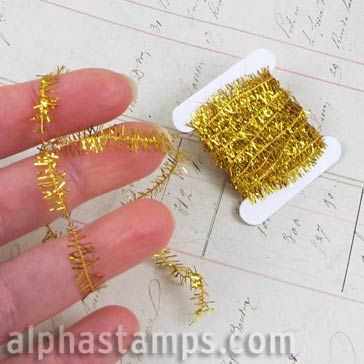Miniature Gold Tinsel Garland