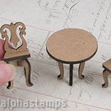 1:24 Round Table & 2 Chairs
