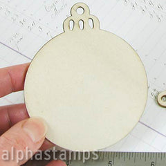 Wood Christmas Ornament Back*